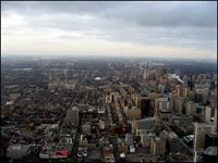 An image from our Canon SD700IS.. taken from the CN Tower on lunato's birthday